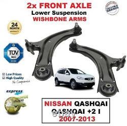 2x Essieu Avant Bras de Suspension Inférieur pour Nissan Qashqai/Qashqai +2 I