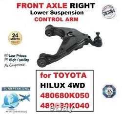 Essieu avant Droit Inférieur Suspension Bras pour Toyota Hilux 4 Roues Motrices