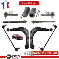 Kit Triangle Bras Suspension 10 Pieces Avant Peugeot 206 1.4 1.6 2.0 Hdi 1.9 D