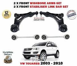 Pour VW Touareg 7L avant 2X Bras Triangle 2x Stabilisatrice Barres Suspension