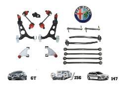 Set Bras Suspension avant et Arrière 16 Pièces Alfa Romeo 147 156 Gt