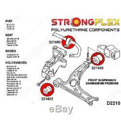 Silentblocs suspension avant (bras / barre stabilisatrice) pour VW Touran