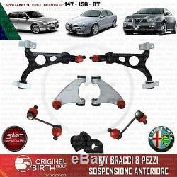 Triangles Bras De Suspension Avant + Biellette + Silentblocs Alfa 147 156 Gt
